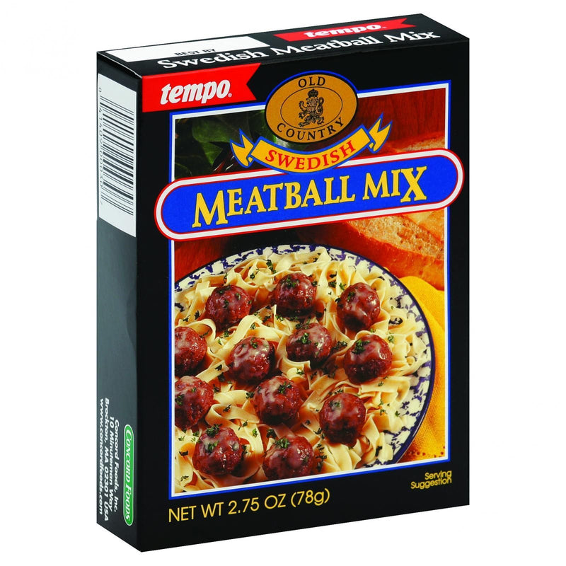 Tempo Old Country Meatball Mix - Swedish - 2.75 oz - Case of 12