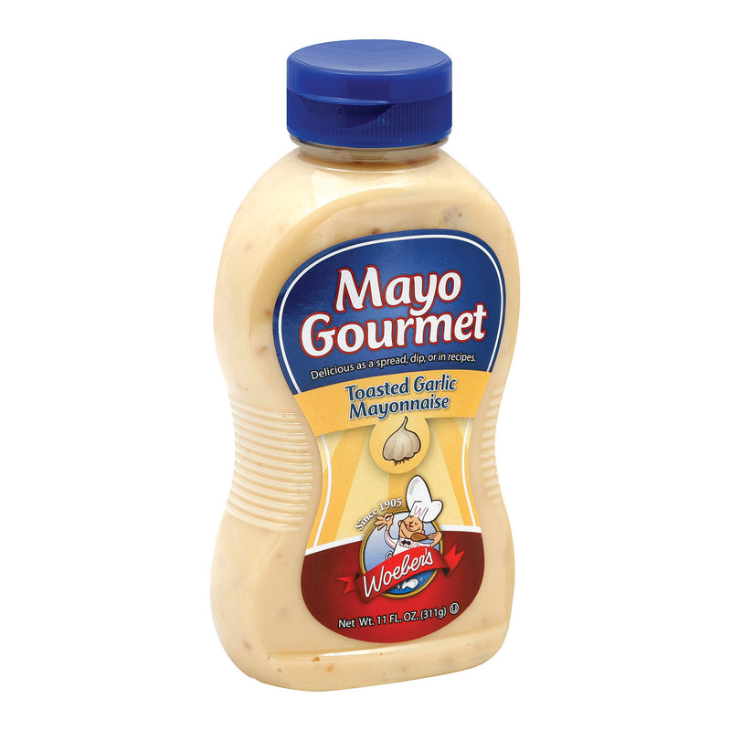 Mayo Gourmet Mayo - Toasted Garlic - Case of 6 - 11 oz