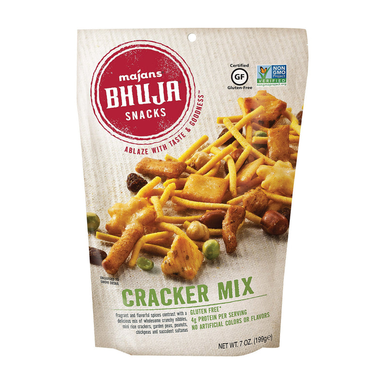 Bhuja Snacks - Cracker Mix - Case of 6 - 7 oz.