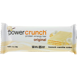 Power Crunch Bar - French Vanilla Cream - Case of 12 - 1.4 oz