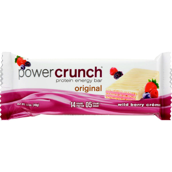 Power Crunch Bar - Wild Berry Cream - Case of 12 - 1.4 oz