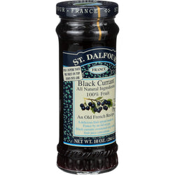 St Dalfour Fruit Spread - Deluxe - 100 Percent Fruit - Black Currant - 10 oz - Case of 6