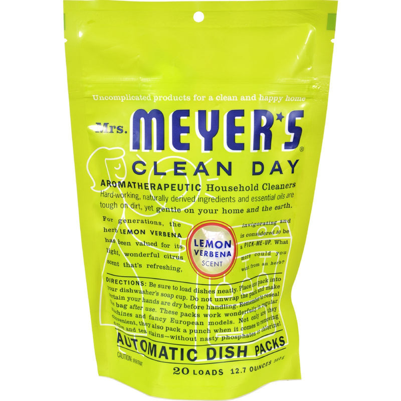 Mrs. Meyer's Clean Day - Automatic Dishwasher Packs - Lemon Verbena - Case of 6 - 12.7 oz