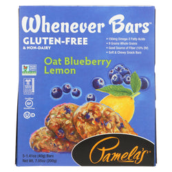 Pamela's Products - Oat Whenever Bars - Blueberry Lemon - Case of 6 - 1.41 oz.