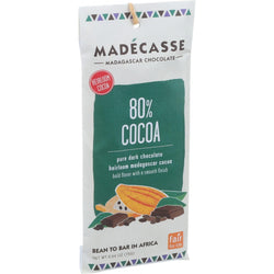 Madecasse Chocolate Bars - 80 Percent Cocoa Chocolate - 2.64 oz - 12 Count