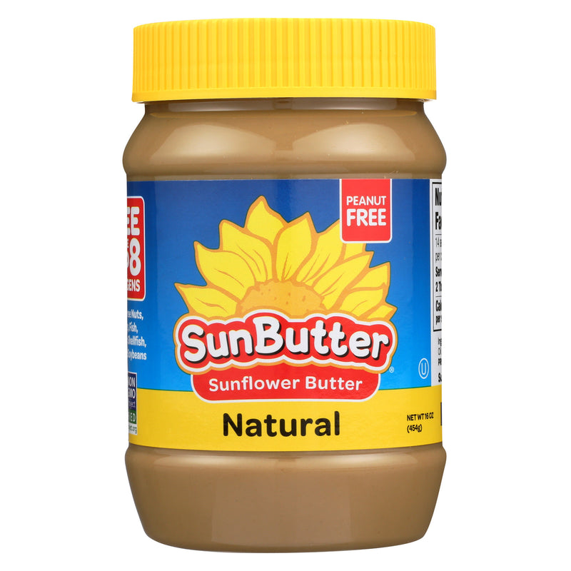 Sunbutter Sunflower Butter - Natural - Case of 6 - 16 oz.