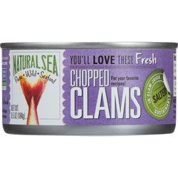 Natural Sea Clams - Chopped - Salted - 6.5 oz - case of 12