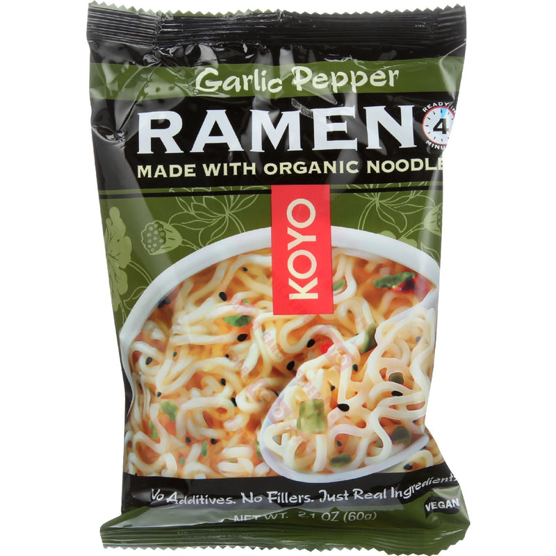 Koyo Ramen - Garlic Pepper - Case of 12 - 2.1 oz.