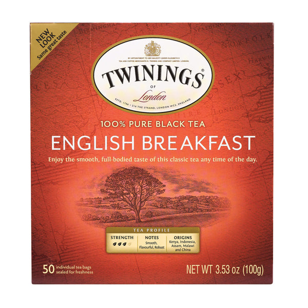 Twining's Tea Breakfast Tea - English - Case of 6 - 50 Bags