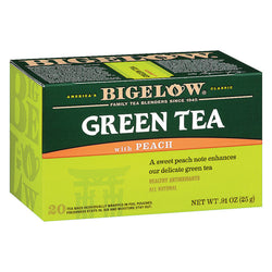 Bigelow Tea Green Tea - with Peach - Case of 6 - 20 BAG