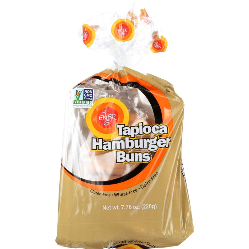 Ener-G Foods - Hamburger Buns - Tapioca - 7.76 oz - case of 6