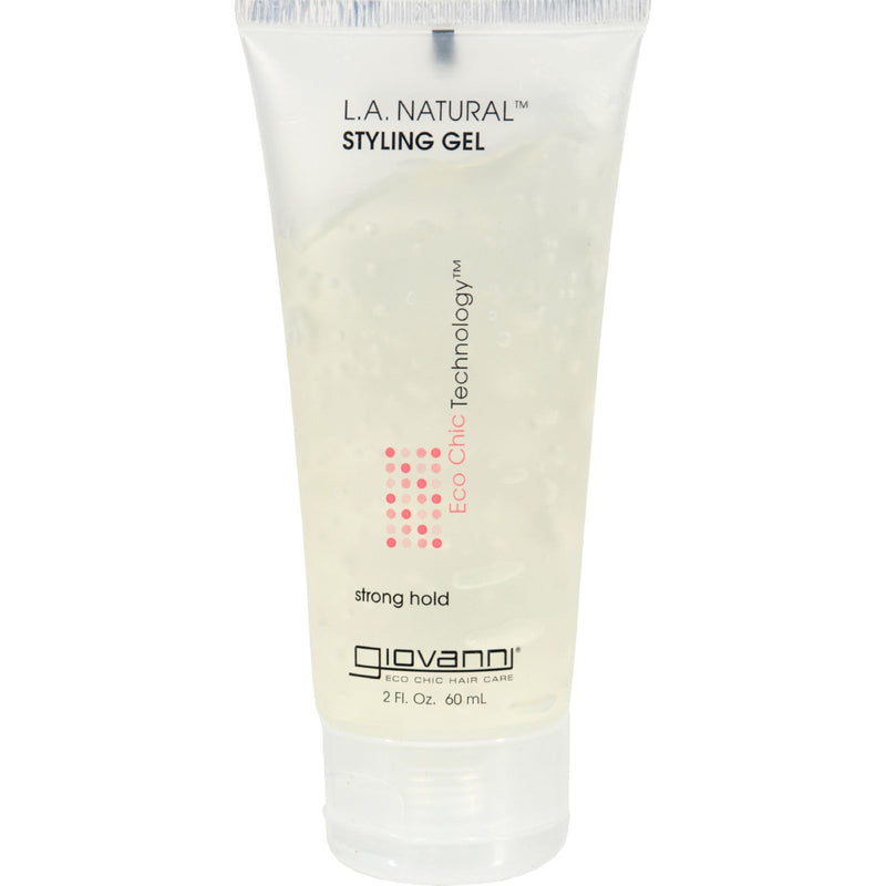 Giovanni L.A. Natural Styling Gel - 2 fl oz - Case of 12