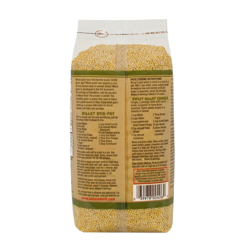 Bob's Red Mill - Whole Grain Millet - 28 oz - Case of 4