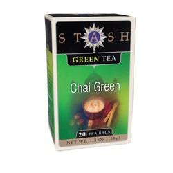 Stash Tea Chai Green Tea - Case of 6 - 20 Bags