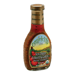 Organic Ville Sun Dried Organic Vinaigrette - Tomato and Garlic - Case of 6 - 8 Fl oz.