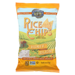 Lundberg Family Farms Rice Chips - Honey Dijon - Case of 12 - 6 oz.