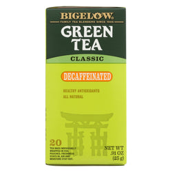 Bigelow Tea Decaf Green Tea - Case of 6 - 20 BAG