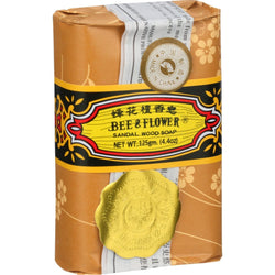 Bee & Flower Soaps - Sandalwood - Case of 4 - 4.4 oz.