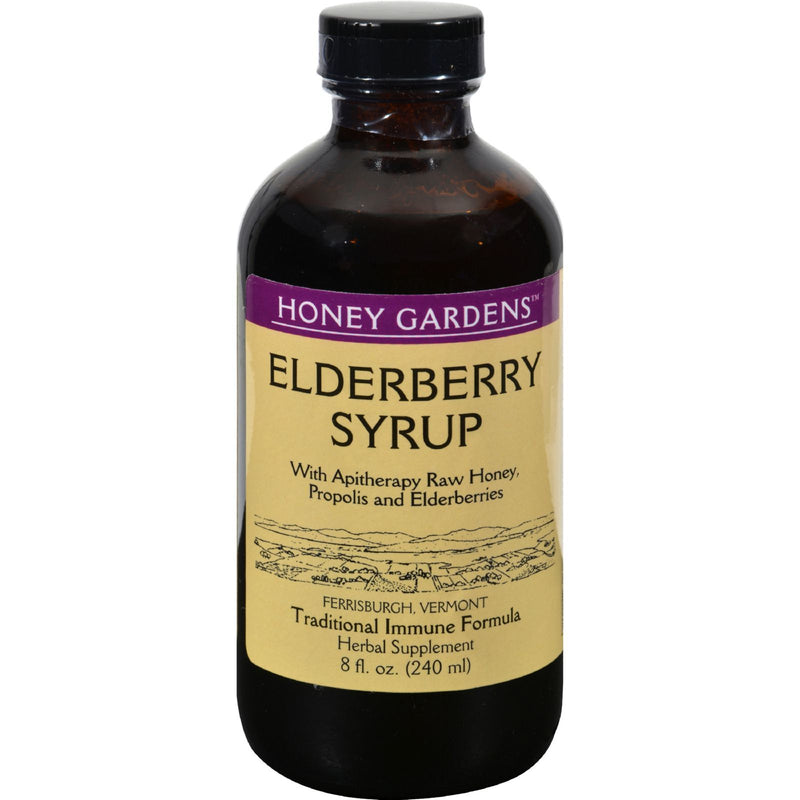 Honey Gardens Apiaries Organic Honey Elderberry Extract with Propolis - 8 fl oz