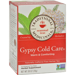 Traditional Medicinals Gypsy Cold Care Herbal Tea - 16 Tea Bags - Case of 6