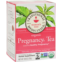 Traditional Medicinals Organic Pregnancy Herbal Tea - 16 Tea Bags - Case of 6