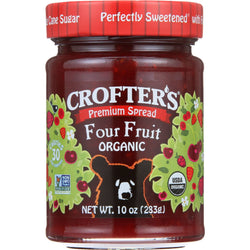 Crofters Fruit Spread - Organic - Premium - Four Fruit - 10 oz - case of 6