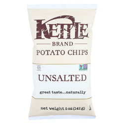 Kettle Brand Potato Chips - Unsalted - Case of 15 - 5 oz.