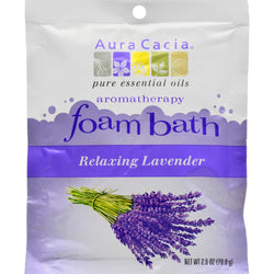 Aura Cacia - Foam Bath Relaxing Lavender - 2.5 oz - Case of 6