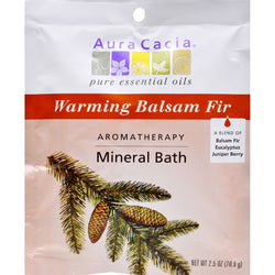 Aura Cacia - Aromatherapy Mineral Bath Soothing Heat - 2.5 oz - Case of 6