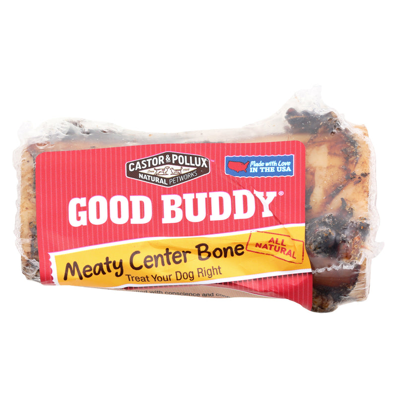 Castor and Pollux Meaty Center Dog Bone - Case of 12 - 4 inch