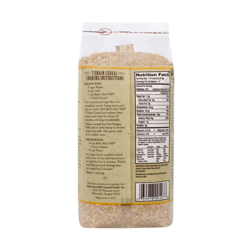 Bob's Red Mill - 7 Grain Hot Cereal - 25 oz - Case of 4
