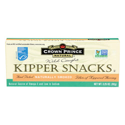 Crown Prince Kipper Snacks - Low In Sodium - Case of 18 - 3.25 oz.