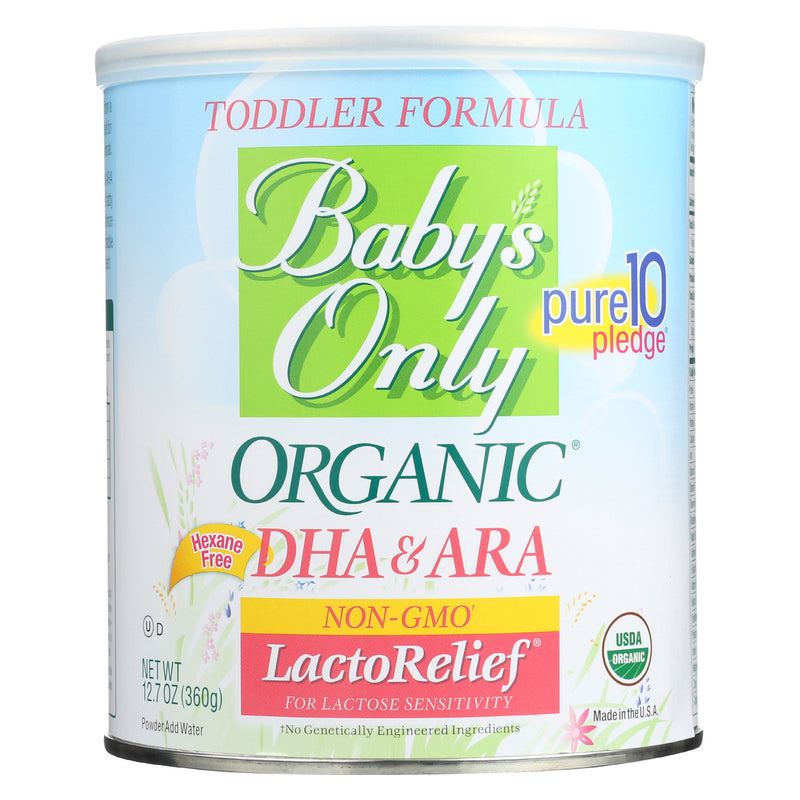 Babys Only Organic Toddler Formula - Organic - LactoRelief - Lactose Free - 12.7 oz - Case of 6