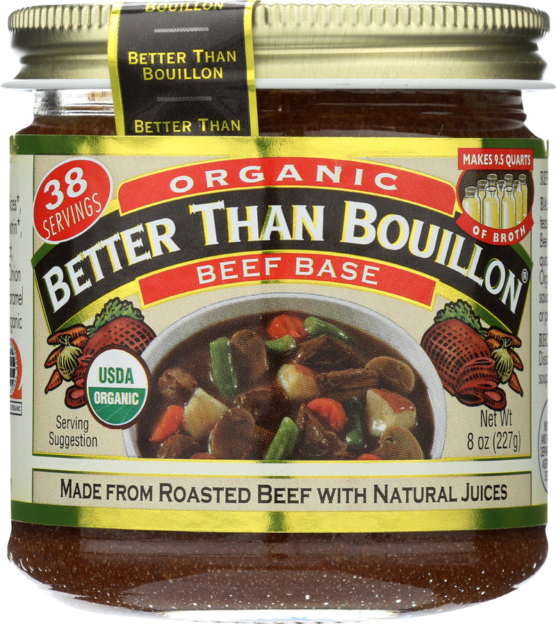 Better Than Bouillon Organic Seasoned - Beef Base - Case of 6 - 8 oz.