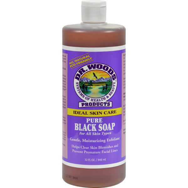 Dr. Woods Pure Black Soap - 32 fl oz