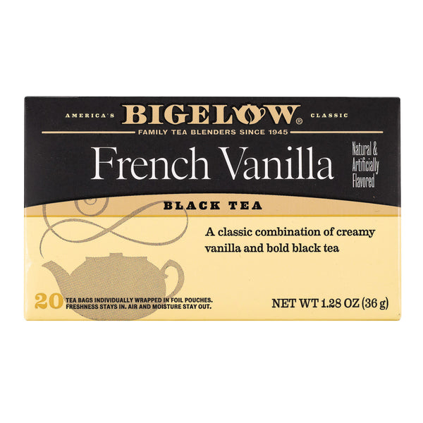 Bigelow Tea French Vanilla Black Tea - Case of 6 - 20 Bags