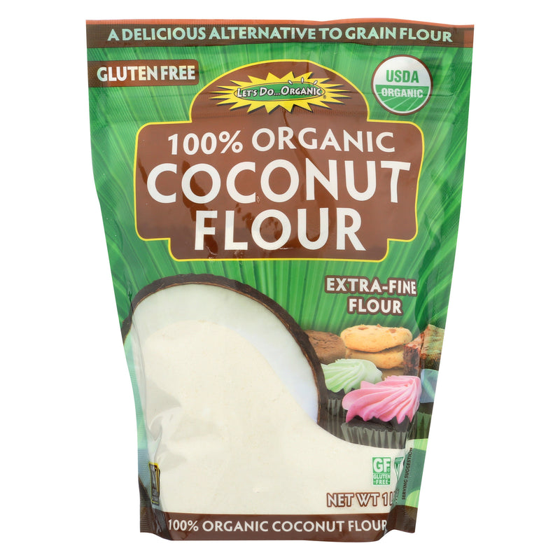 Let's Do Organics Organic Flour - Coconut - Case of 6 - 16 oz.