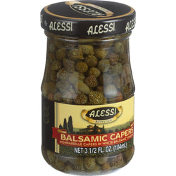 Alessi - Capers in White Balsamic Vinegar - 3.5 oz - Case of 6