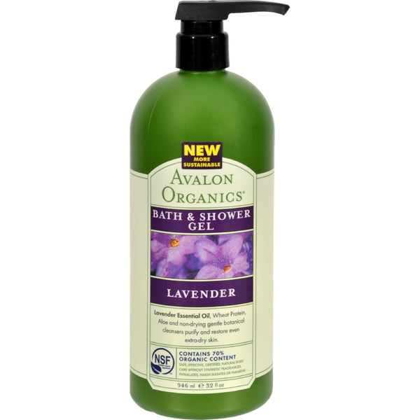 Avalon Organics Bath and Shower Gel Lavender - 32 fl oz