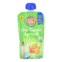 Earth's Best Organic Pear Carrot Apricot Baby Food Puree - Stage 3 - Case of 12 - 4.2 oz.