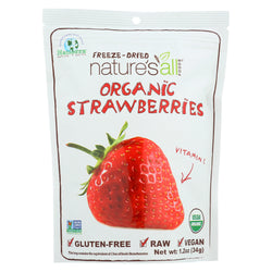 Natierra Organic Raw Freeze Dried - Strawberries - Case of 12 - 1.2 oz.