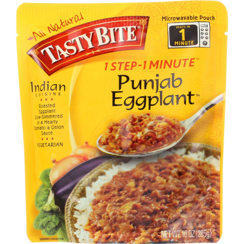 Tasty Bite Entree - Indian Cuisine - Punjab Eggplant - 10 oz - case of 6