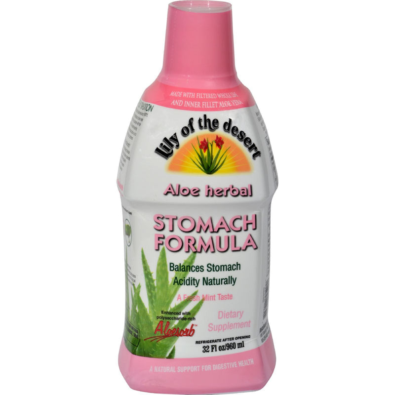 Lily of the Desert - Aloe Herbal Stomach Formula Fresh Mint - 32 fl oz