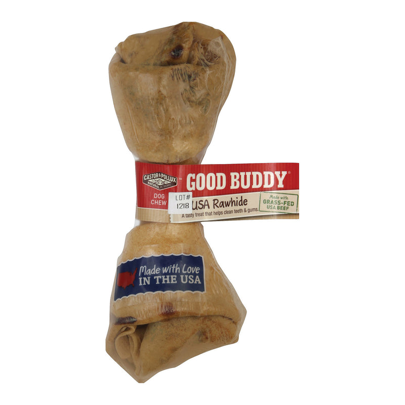 Castor and Pollux Good Buddy Rawhide Bone Dog Treat - 6-7 inch - Case of 12