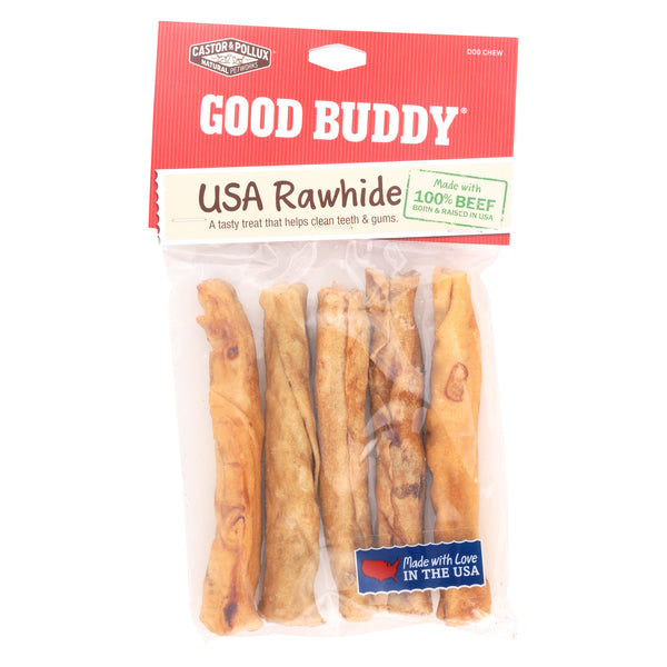 Castor and Pollux Good Buddy Sticks Rawhide Dog Chews - Case of 12