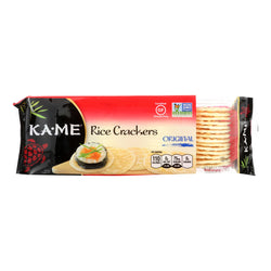 Ka'Me Rice Crackers - Original - Case of 12 - 3.5 oz.