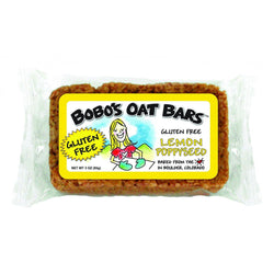 Bobo's Oat Bars - All Natural - Gluten Free - Lemon Poppyseed - 3 oz Bars - Case of 12