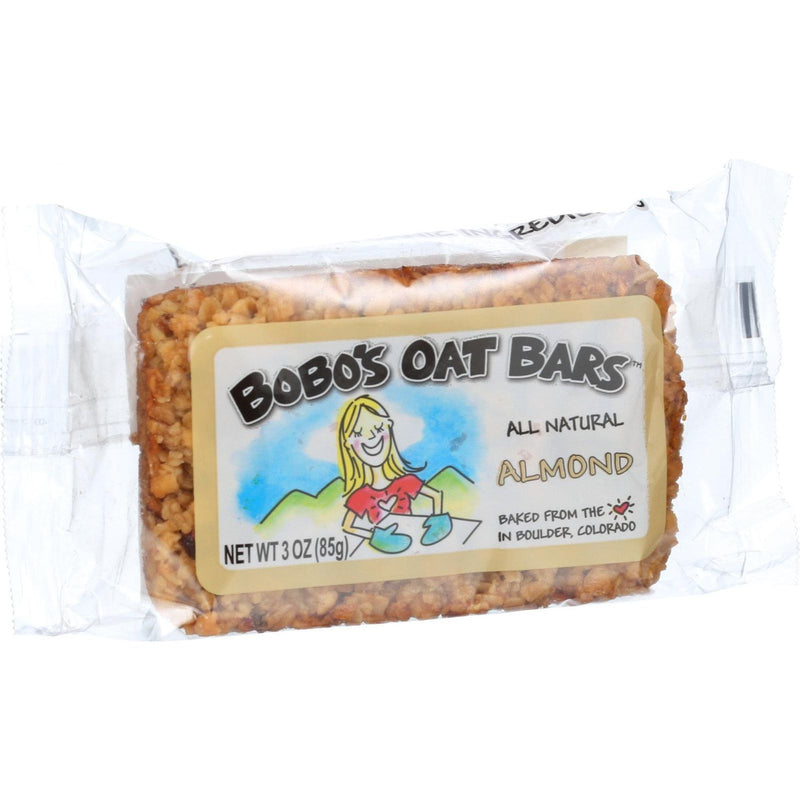 Bobo's Oat Bars - All Natural - Almond - 3 oz Bars - Case of 12