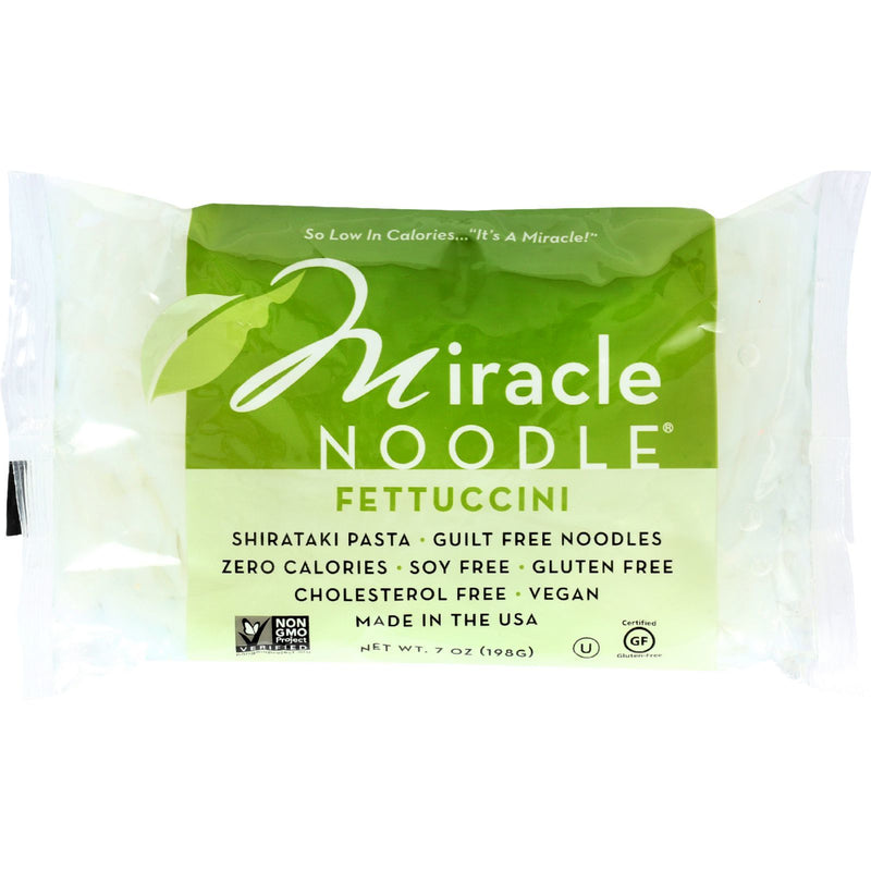 Miracle Noodle Pasta - Shirataki - Miracle Noodle - Fettuccini - 7 oz - case of 6