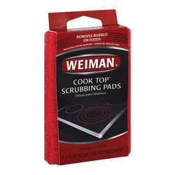 Weiman Pads - Cooktop Scrubbing - Case of 6 - 3 count